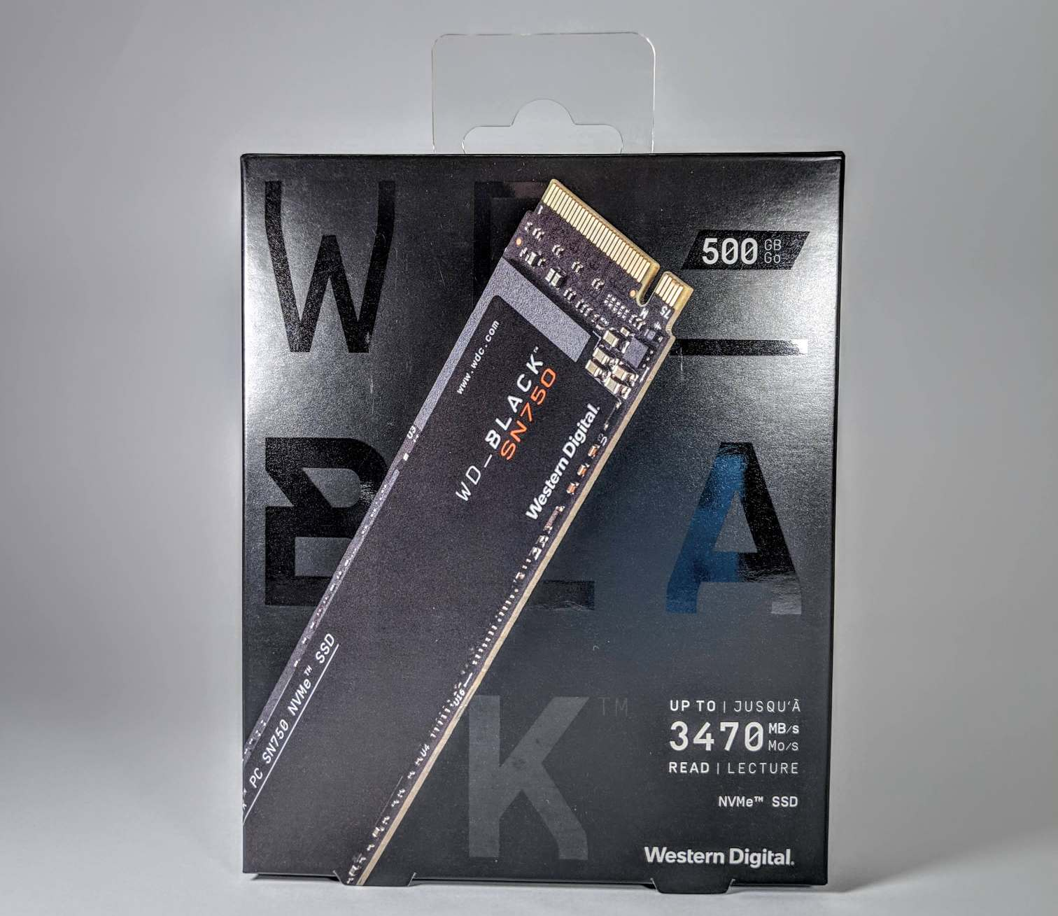 WD Black SN750 NVMe M.2 Box