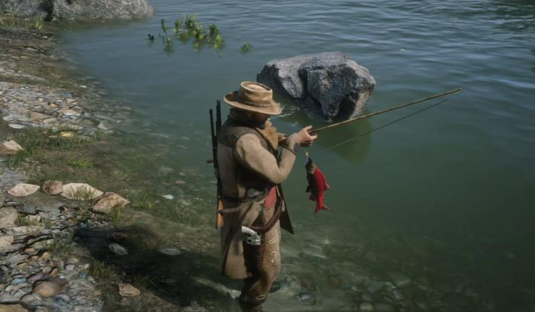 Red Dead Online pesca