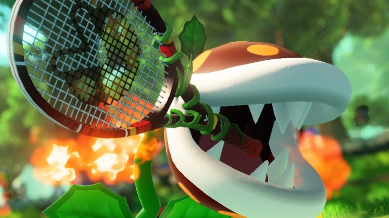 Mario Tennis Pianta Piranha
