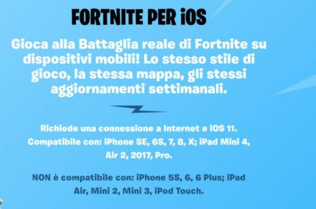 Fortnite mobile iOS
