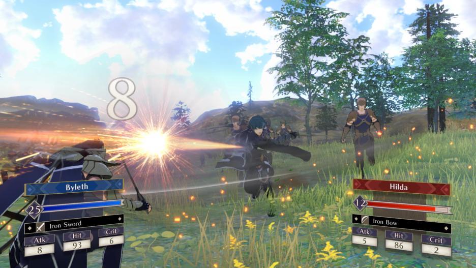 Fire Emblem: Three Houses anteprima combattimento