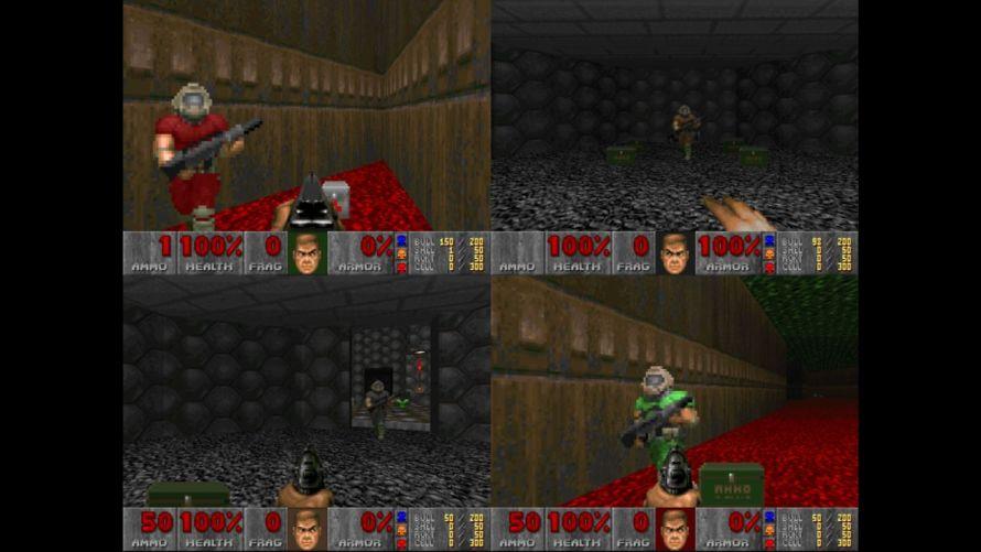 Doom II split screen