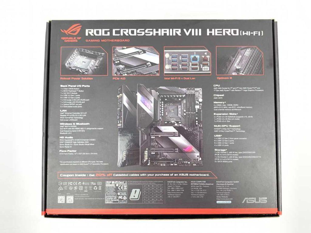 Asus ROG Crosshair VIII Hero Wi-Fi