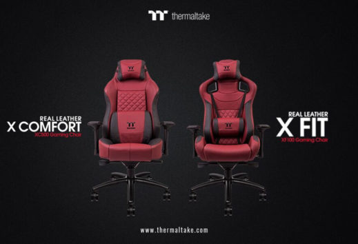 Thermaltake gaming presenta X-Fit e X-Comfort red