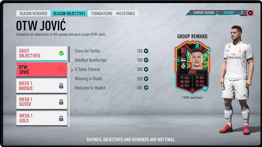 FIFA 20 FUT Obiettivi