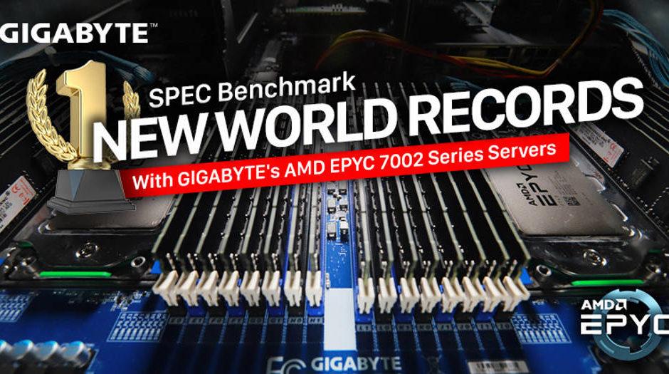 Gigabyte  - 11 record mondiali con processori EPYC