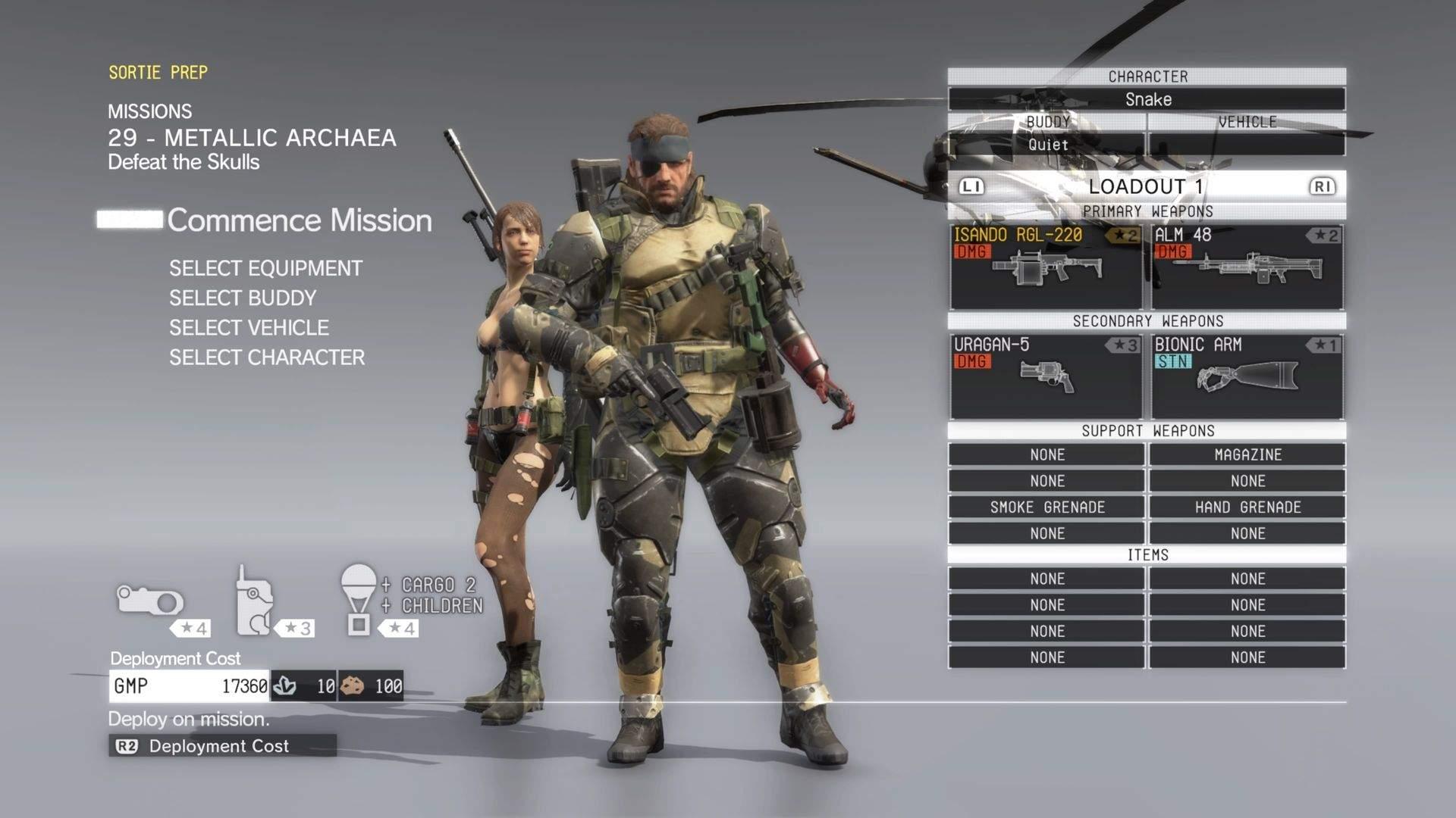 Metal Gear Solid V equipaggiamento missione 29