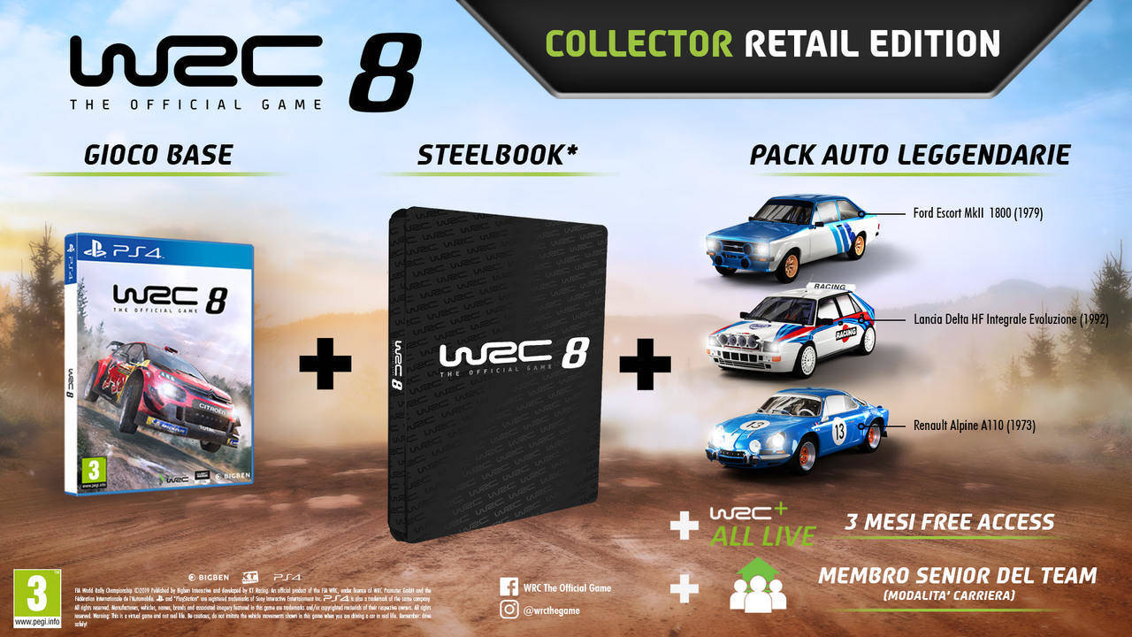 WRC 8 Collector Retail Edition