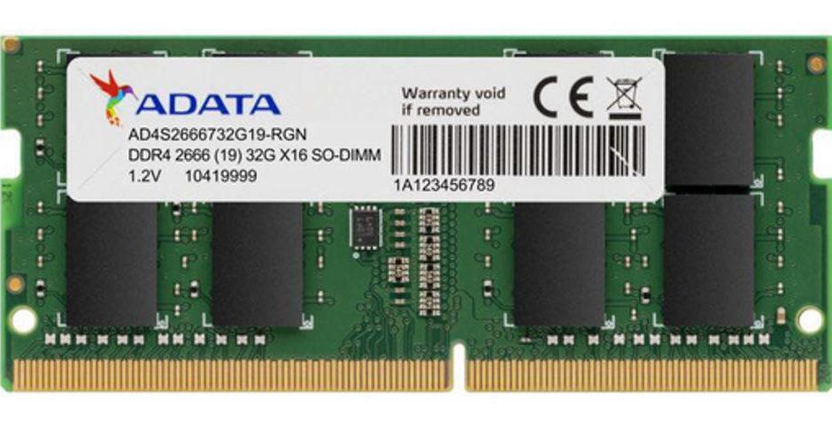 ADATA presenta memoria DDR4-2666 a doppia capacità
