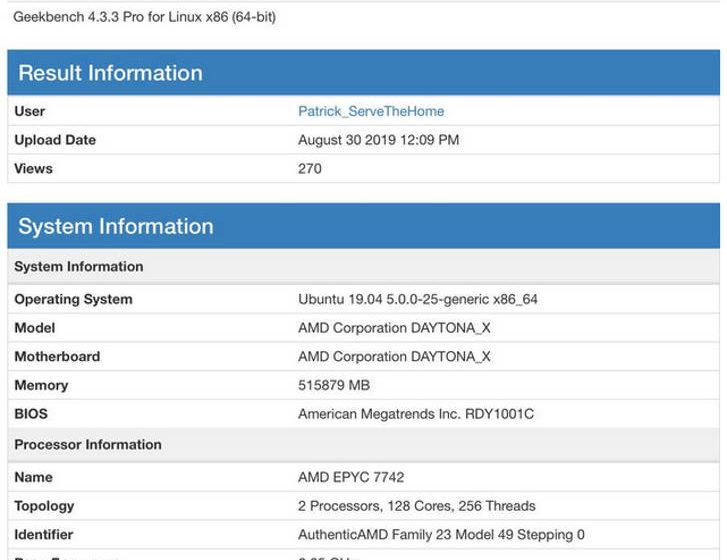 AMD Epyc batte Intel Xeon in Geekbench sul prezzo