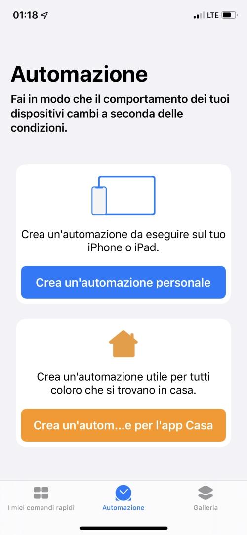 iOS 13 automazioni