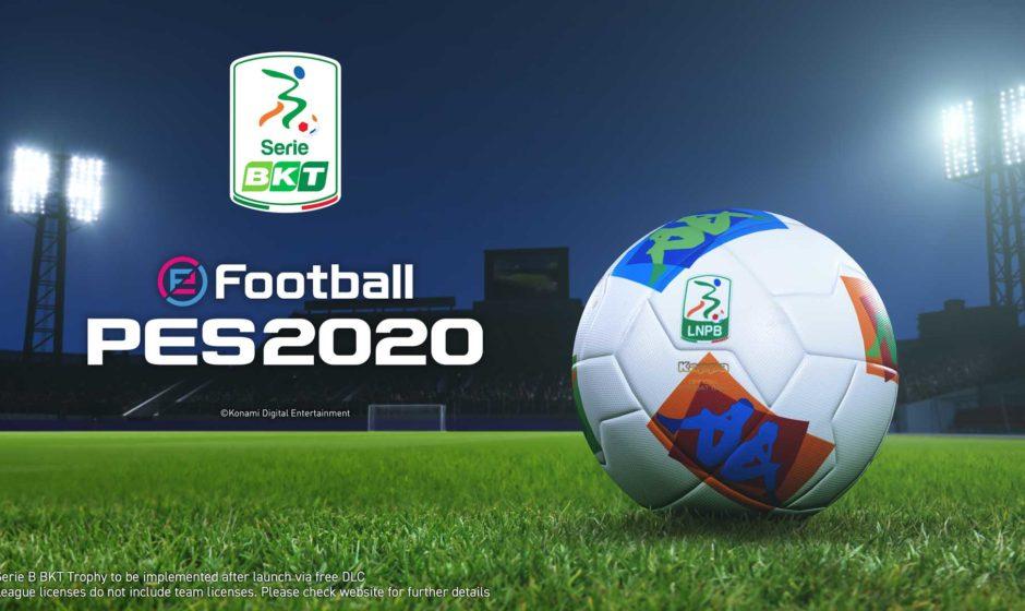 eFootball PES 2020: acquisita licenza Serie B