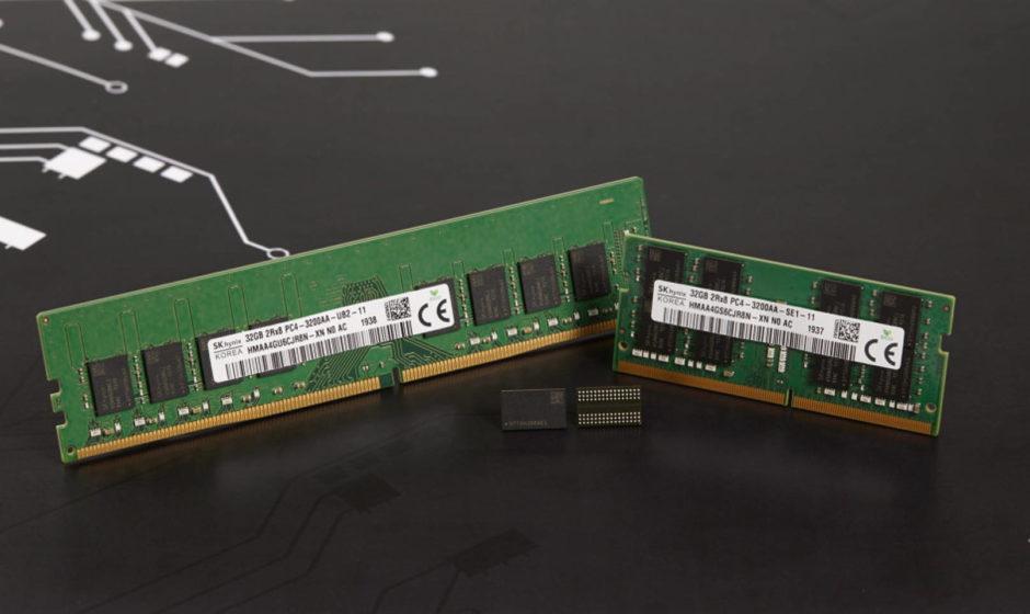 SK hynix introdurrà memorie DDR4 da 1Znm da 16 GB