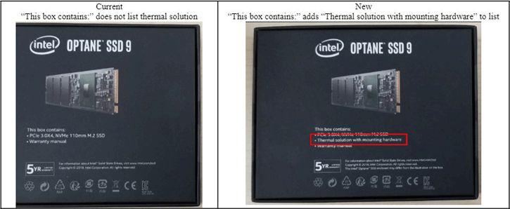 Intel include heatsink per SSD Intel Optane 905P