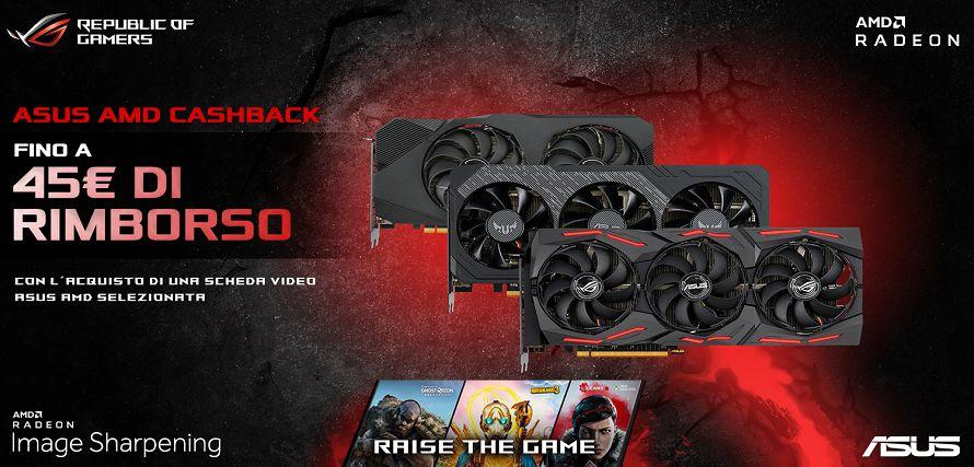 ASUS annuncia il cashback sulle schede video AMD