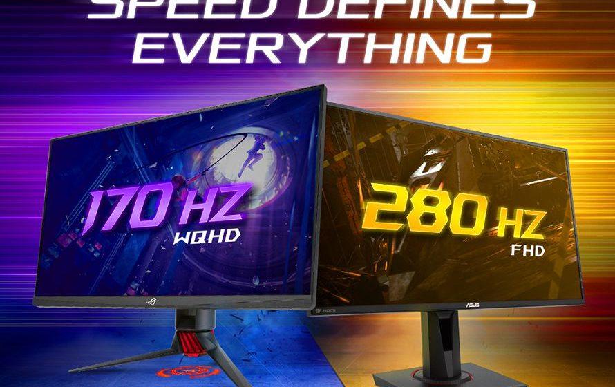 ASUS annuncia i monitor gaming più veloci al mondo