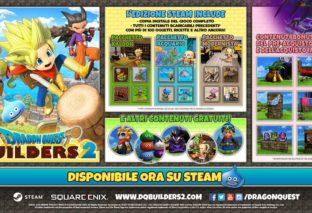 Dragon Quest Builders 2: disponibile su Steam