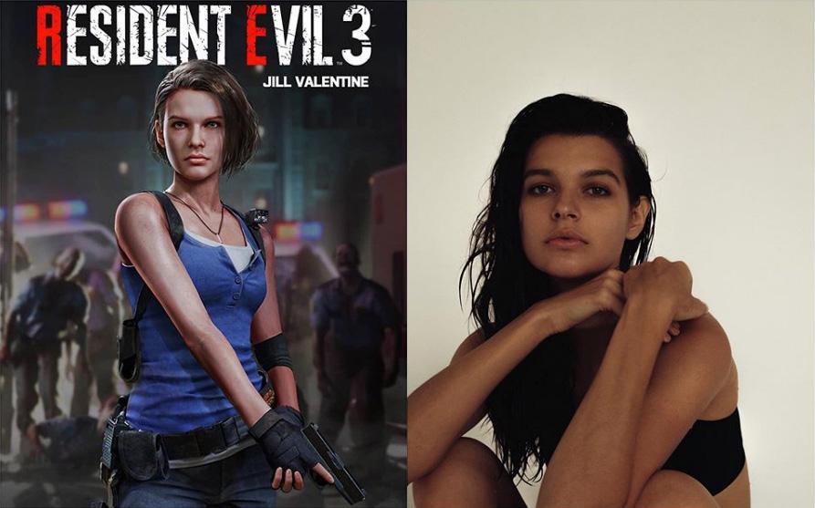 Resident Evil 3 Sasha Zotova modella Jill Valentine