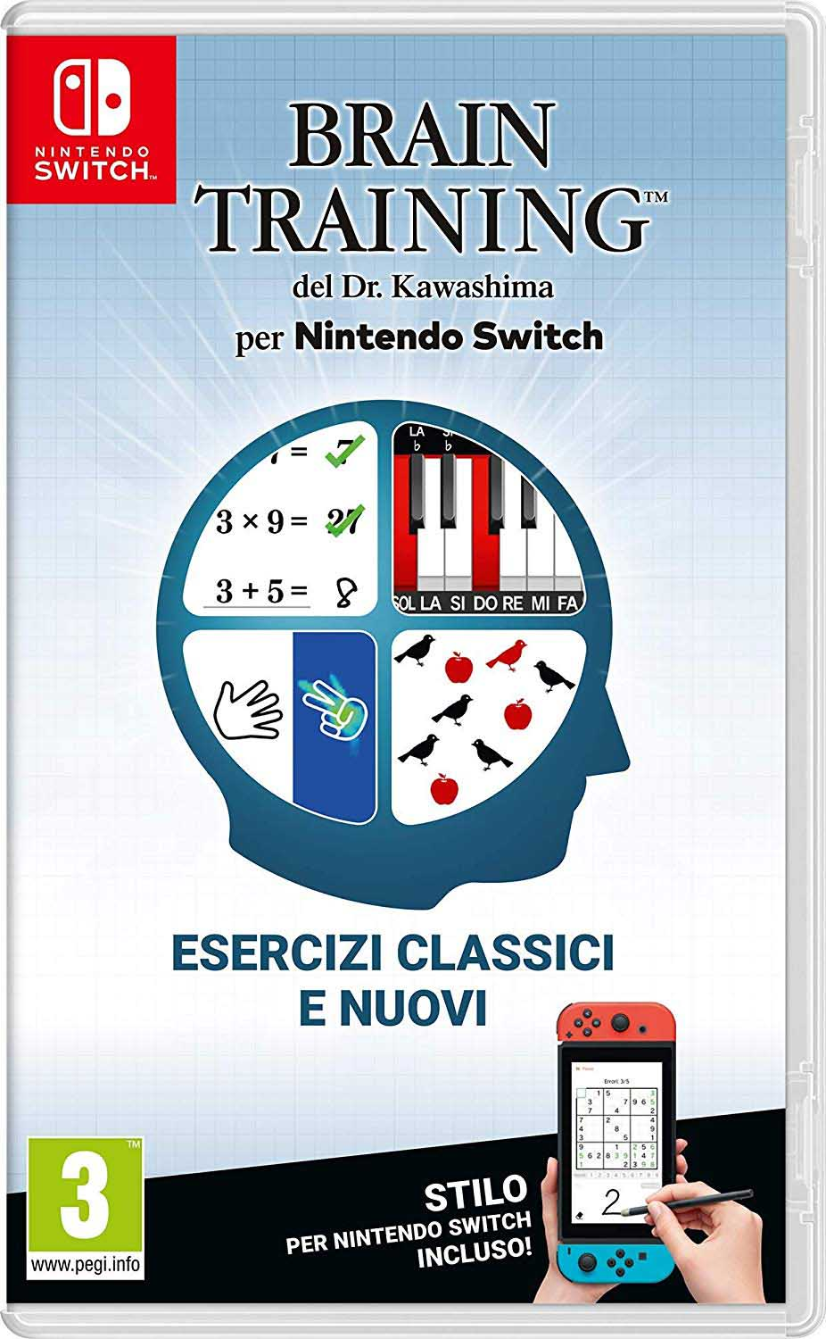 Cover Brain Training del Dr. Kawashima per Nintendo Switch