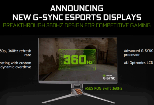 CES 2020: Nvidia presenta i monitor G-SYNC da 360Hz