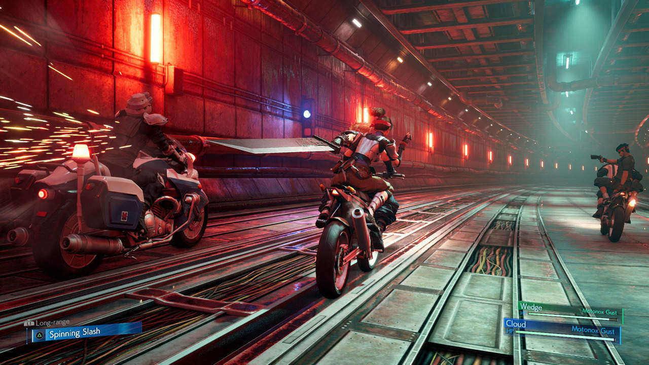 FFVII Remake motorcycle tunnel