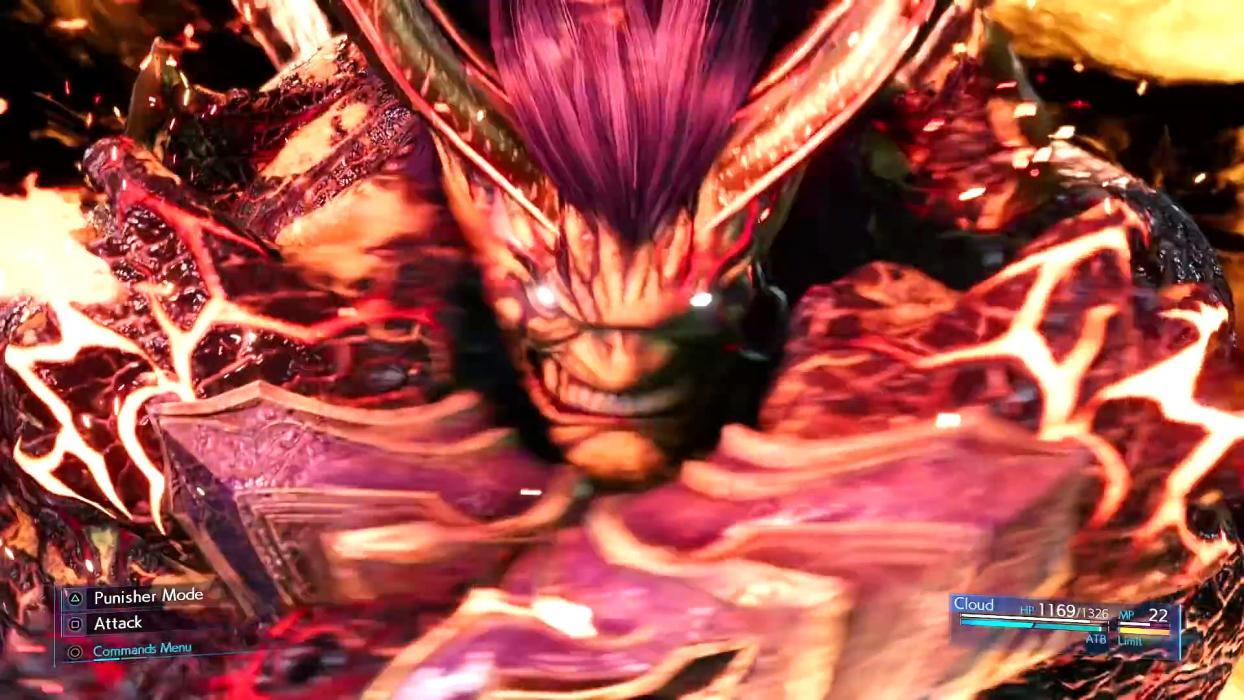 Final Fantasy VII Remake Ifrit Hellfire