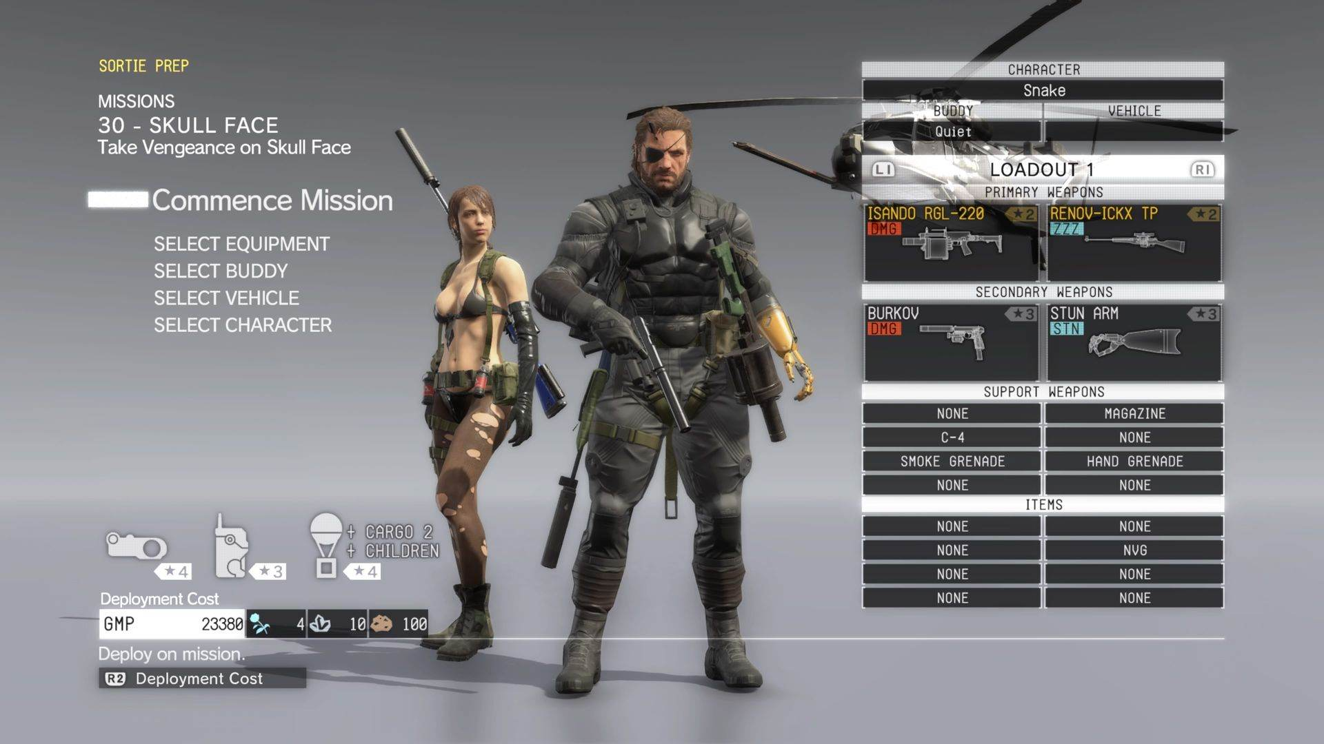 Metal Gear Solid 5 Skull Face missione