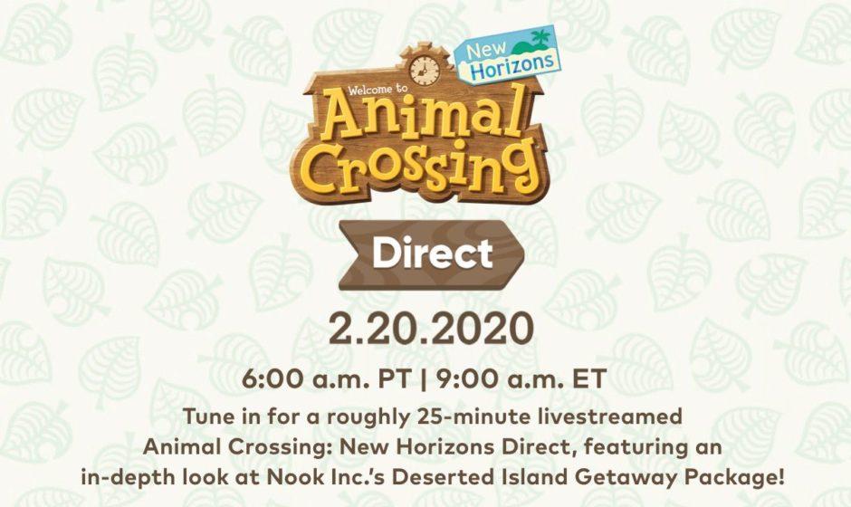 Animal Crossing, annunciato Nintendo Direct a tema