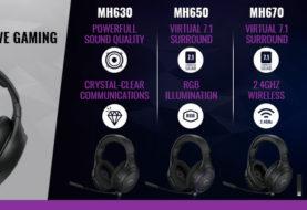 COOLER MASTER presenta tre nuove cuffie gaming