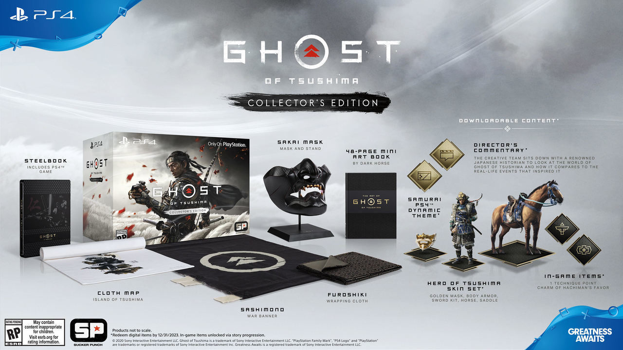 contenuti collector's edition ghost of tsushima