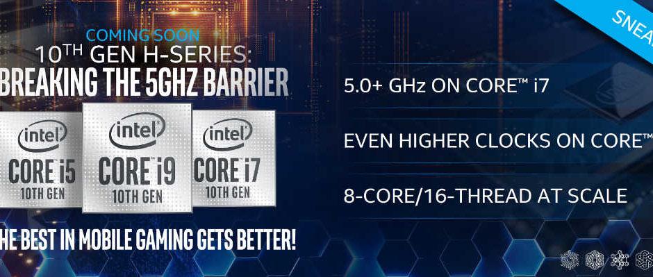 INTEL rilascerà la CPU mobile Core i9-10980HK