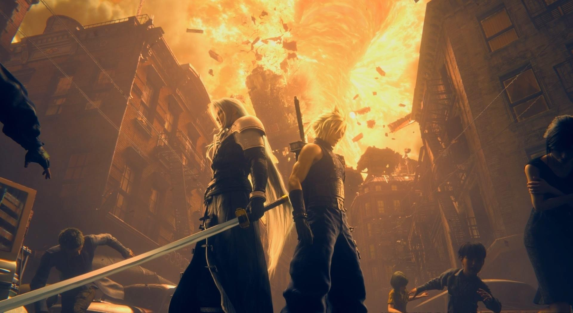 Final Fantasy VII Remake Cloud Sephiroth meteor
