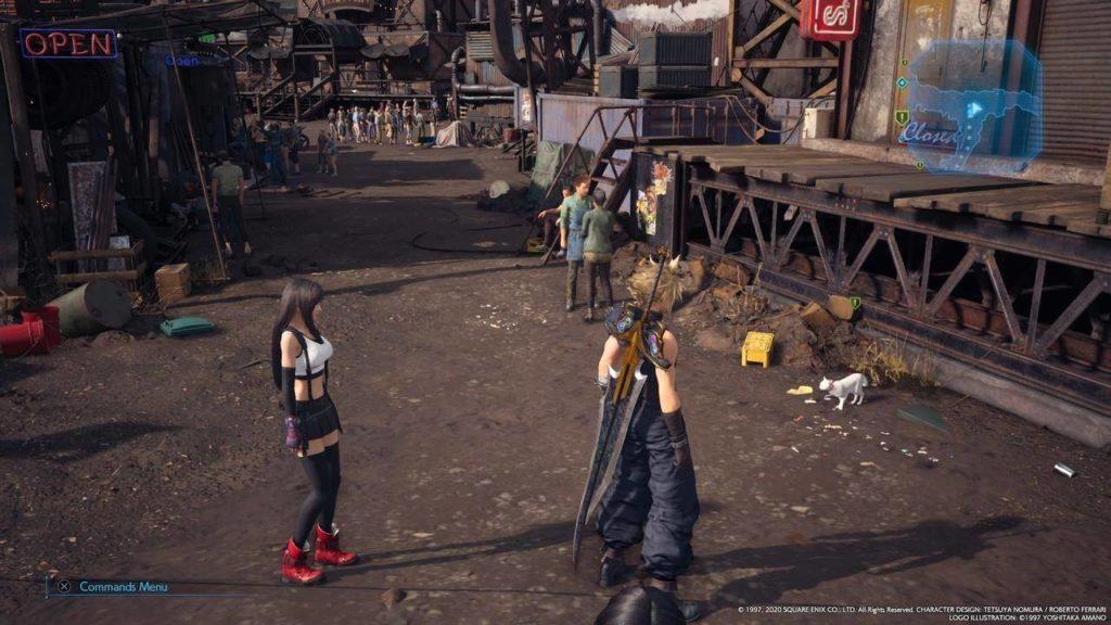 Final Fantasy VII Remake gatto strada