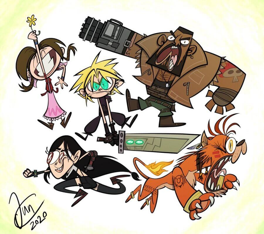 Final Fantasy VII Remake Cartoon Network