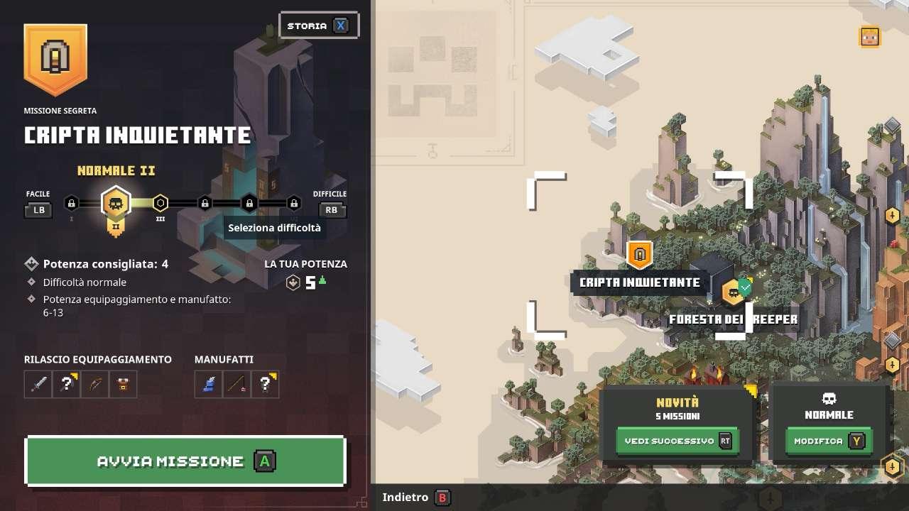 Minecraft Dungeons Cripta Inquietante