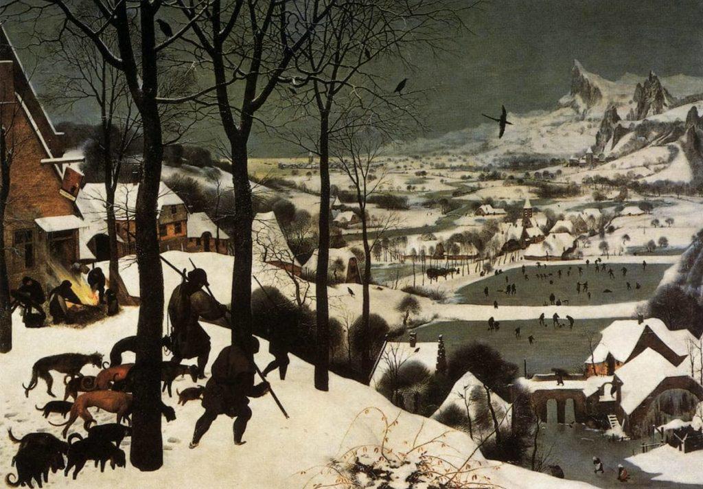 cacciatori nella neve _ animal crossing