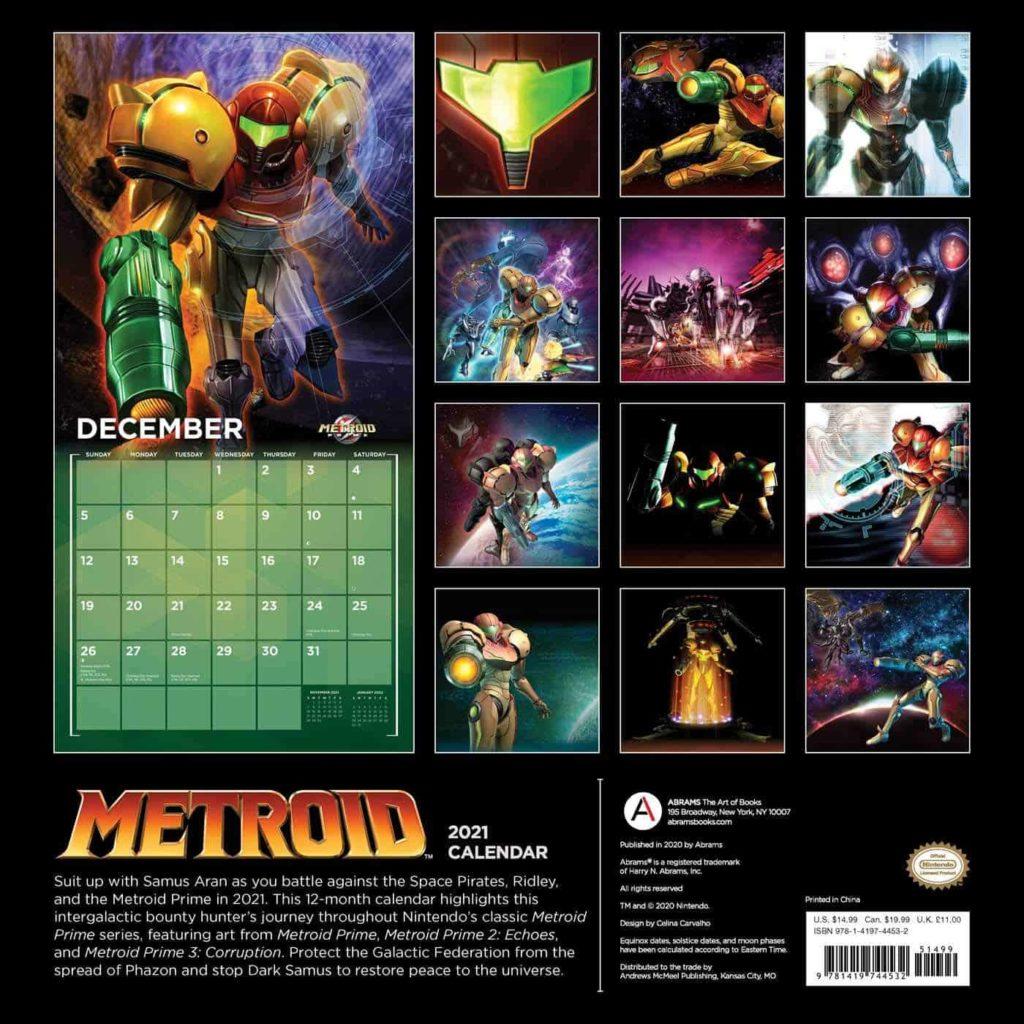 metroid calendar 3