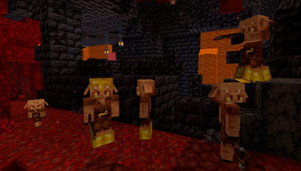 Minecraft commerciare con i Piglins