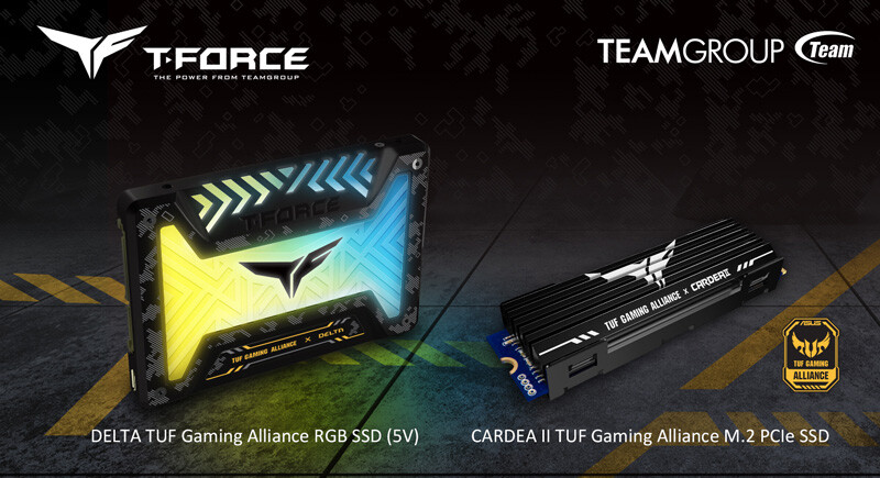 TeamGroup annuncia nuovi SSD con marchio ASUS TUF