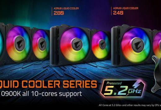 La serie LIQUID COOLER AORUS supporta i9 10900K