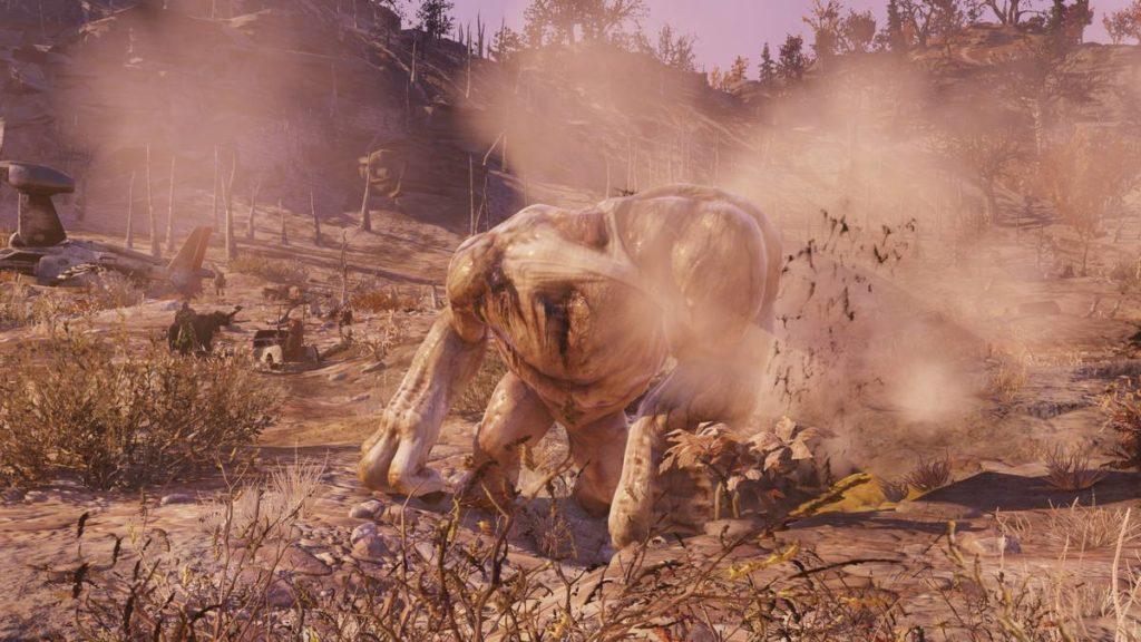 Fallout 76 mostro Grafton