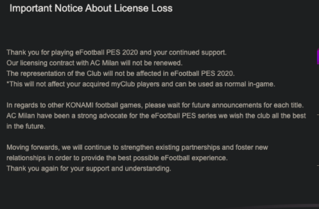 Pes 2021 licenze