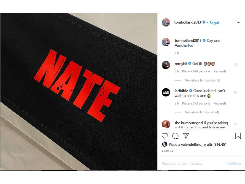 Uncharted: Tom Holland conferma l'inizio delle riprese