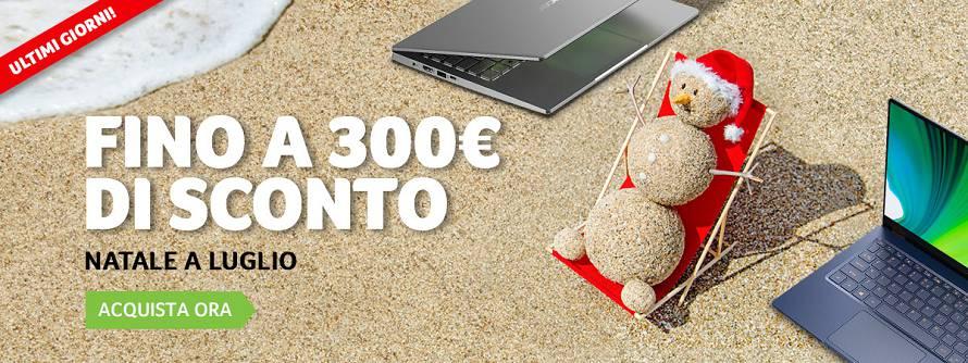 Sconti fino a 300 euro sui notebook Acer