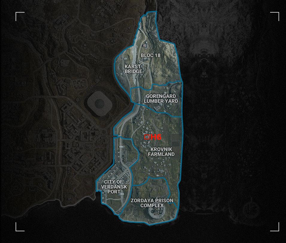 Warzone Farmland H6 map
