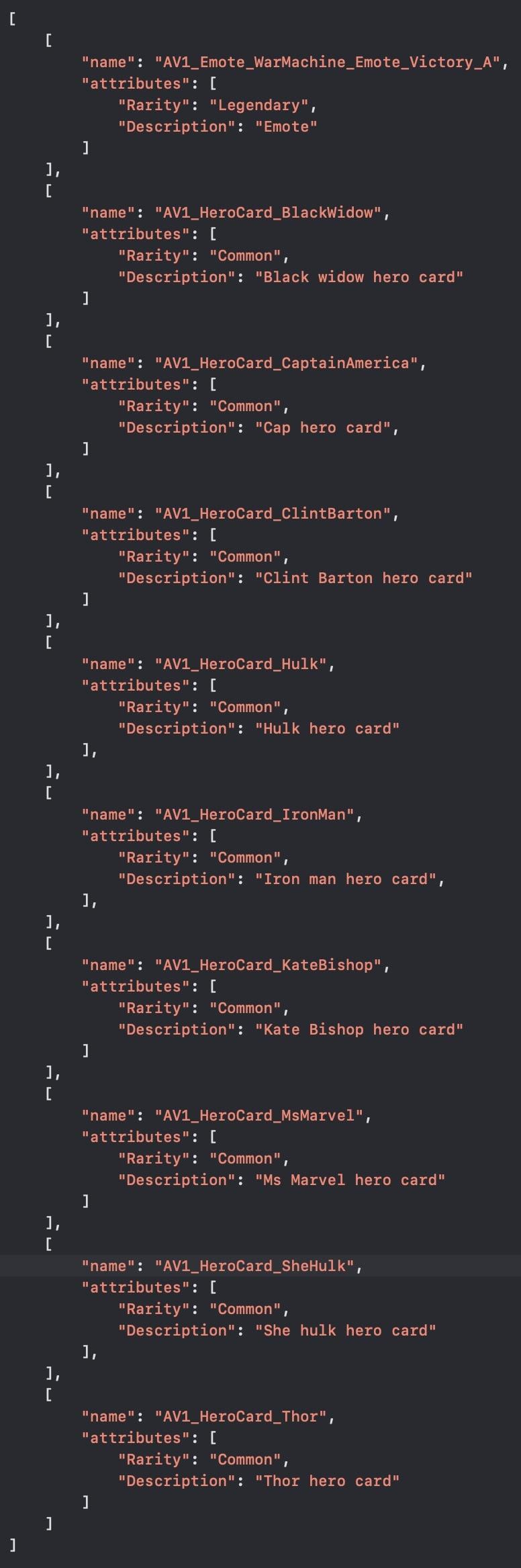 marvel avengers code