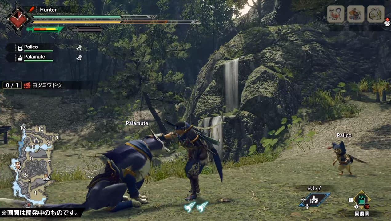 monster hunter rise interfaccia