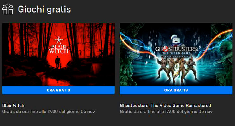 Blair Witch - Ghostbusters gratis Epic Games Store