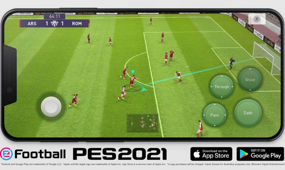 eFootball PES 2021 ora in versione Mobile