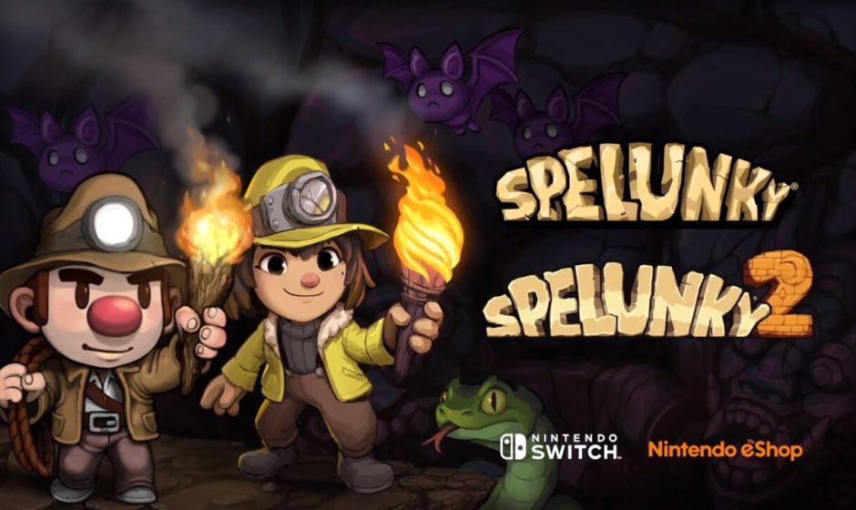 Spelunky 1 e 2 in arrivo su Nintendo Switch